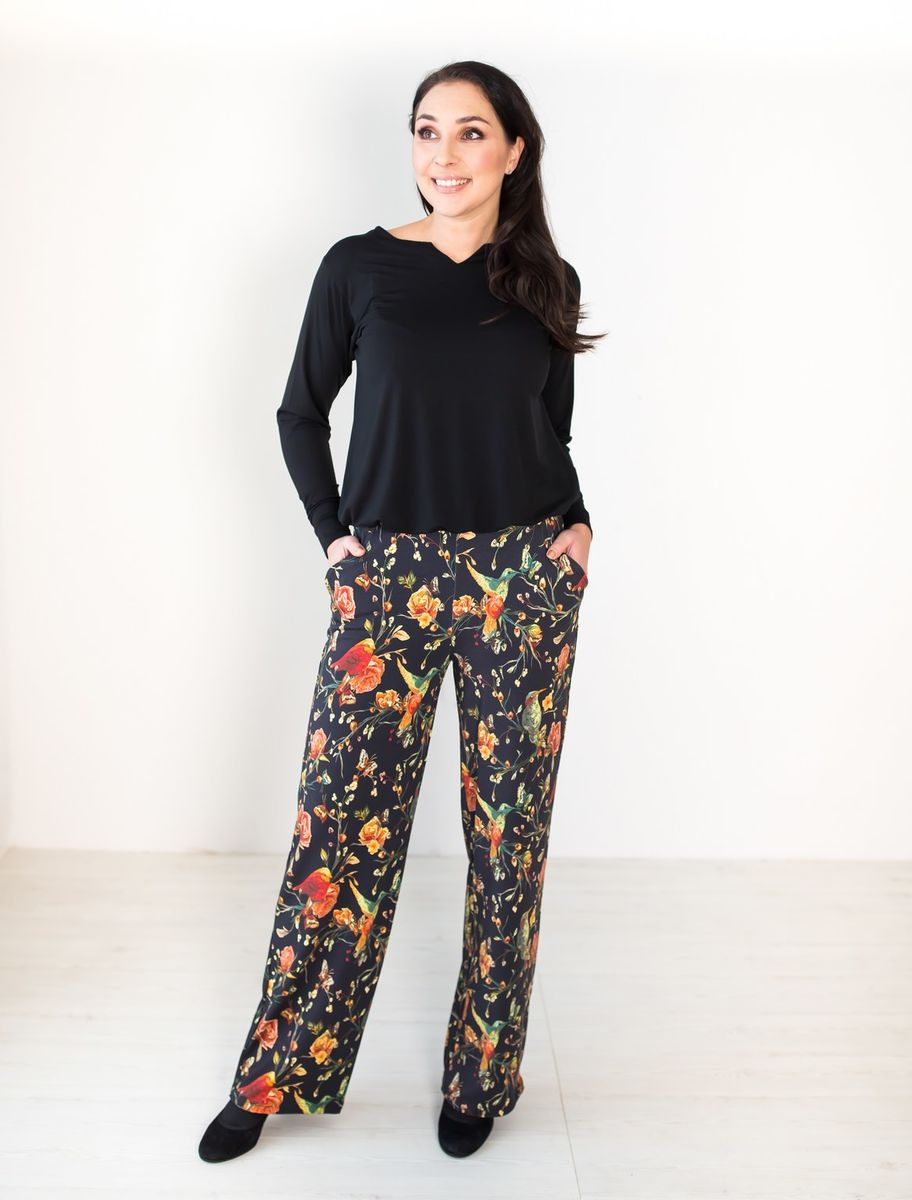 LUGO Pants, Tropic Flower, normal length of the leg  82m