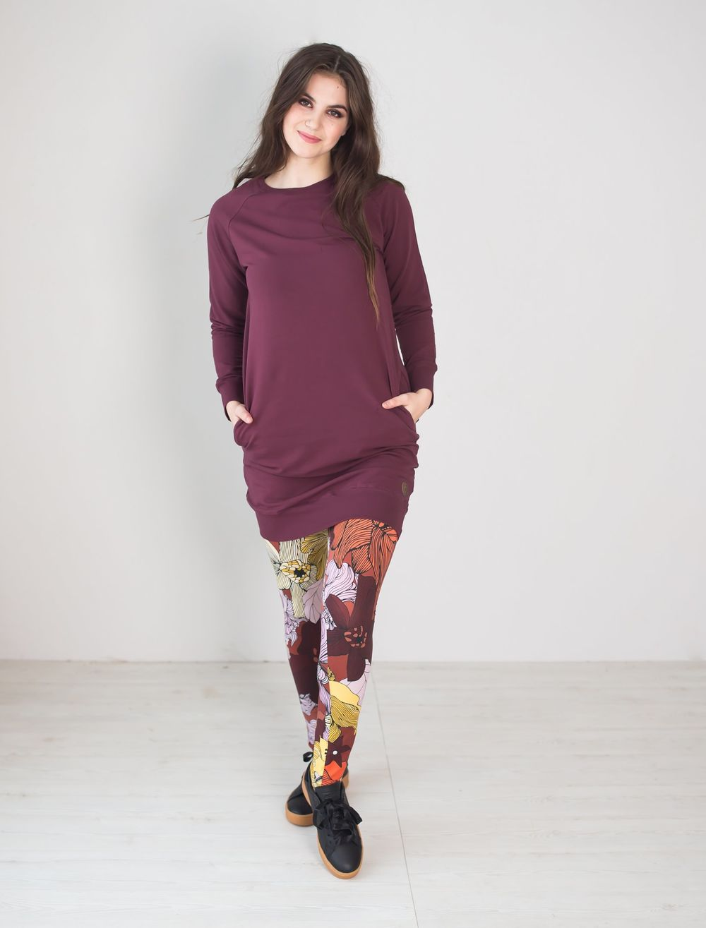 PHILADELPHIA College Tunic, Wine Red