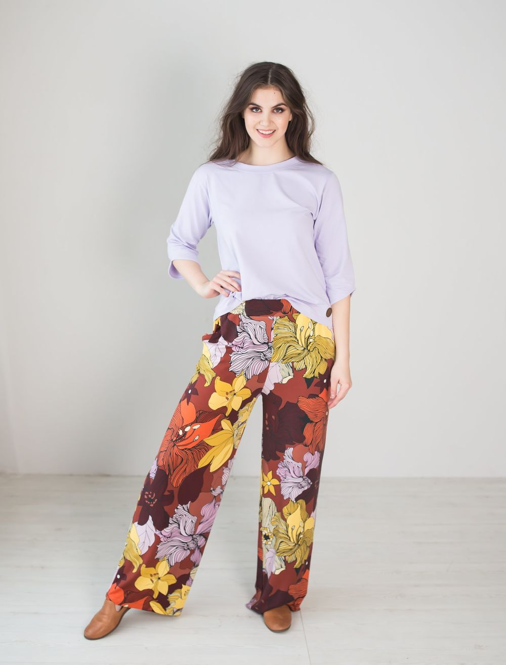 LUGO Pants, Flower Field, normal inner lenght of the leg 78cm