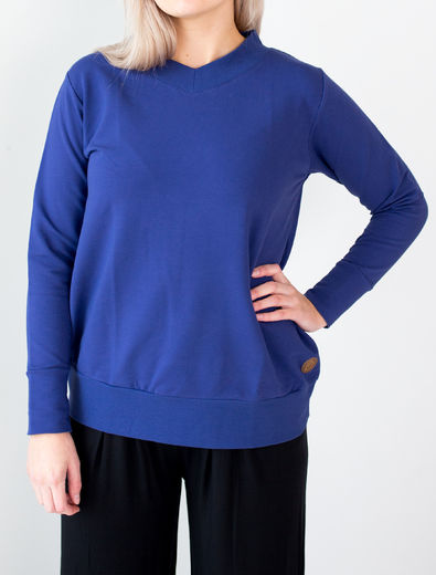 GDANSK College Sweater, Deep Blue