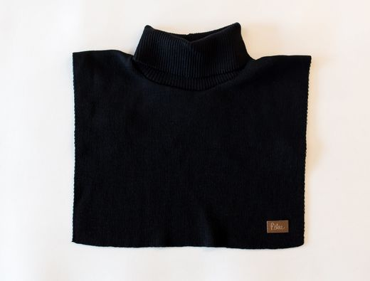 MERINOWOOL NECK WARMER, BLACK