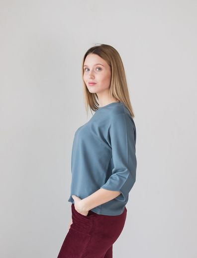 AMALIA Shirt, Blue Gray