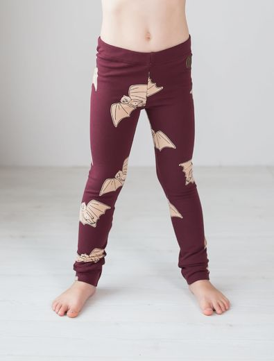 Paris College Leggings, Bat Chocolate