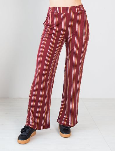 LUGO Pants, Stripes Syrah  (normal inner lenght 78 CM)
