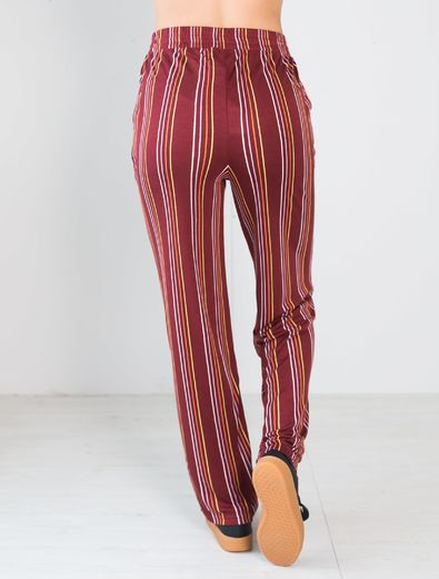 LUGO Pants, Stripes Syrah (short inner lenght 73 cm)