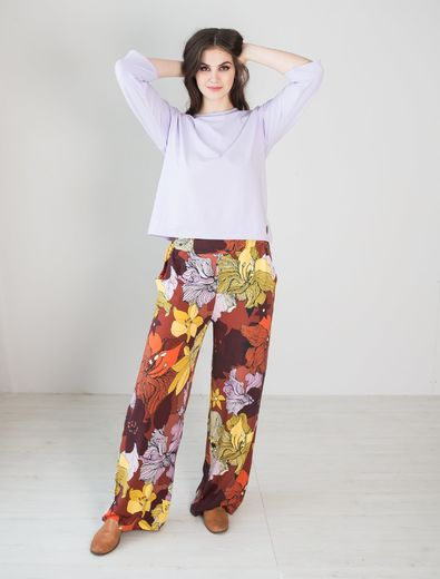 LUGO Pants, Flower Field, inner length  of the leg 73cm