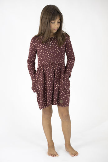 FORE Pocket Dress, Dot Brown