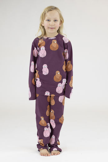 PYJAMAS, OWL RED