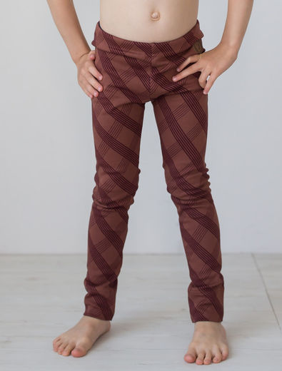PARIS Knitted Leggins, Check Brown