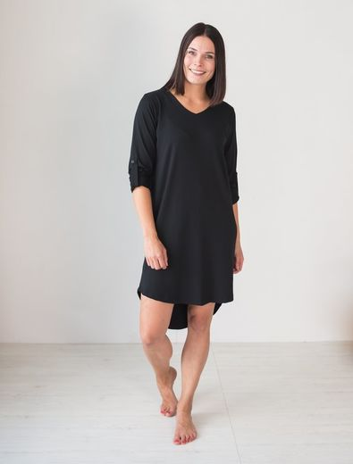 SANDY Shirtdress, Black