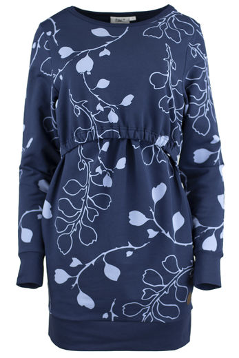 BOURGES  Nursing Tunic, Branch Blue