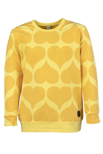 KISSI College Sweater, Hearts Yellow
