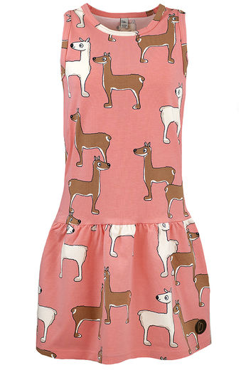 VERONA Sleeveless Dress, LLAMA CORAL