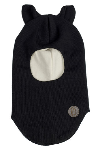 MERINOWOOL BALACLAVA , CAT BLACK