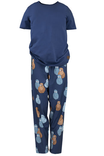 MEN`S PYJAMAs, OWL BLUE