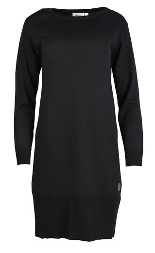 VILNA Merinowool Dress, Black