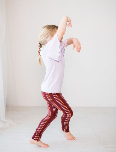 PARIS Leggings, Stripes Syrah